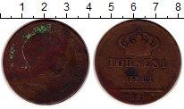 Изображение Монеты Италия Неаполь 10 торнеси 1825 Медь VF