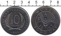 Изображение Монеты Великобритания Карибы 10 долларов 1981 Медно-никель XF