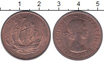 Изображение Монеты Великобритания 1/2 пенни 1967 Бронза XF