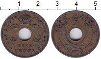 Изображение Монеты Восточная Африка 5 центов 1952 Бронза XF