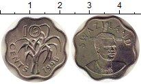 Изображение Монеты Свазиленд 10 центов 1998 Медно-никель XF Мсвати III