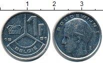 Изображение Монеты Бельгия 1 франк 1991 Медно-никель XF