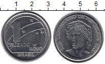 Изображение Мелочь Южная Америка Бразилия 1 ново крузадо 1989 Медно-никель UNC-