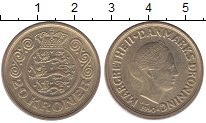 Изображение Монеты Европа Дания 20 крон 1990 Латунь UNC-