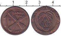 Изображение Монеты Конго Катанга 1 франк 1961 Бронза UNC-