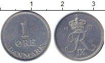 Изображение Монеты Дания 1 эре 1970 Цинк XF Фредерик IX