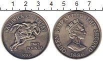 Изображение Монеты Великобритания Остров Джерси 2 фунта 1986 Медно-никель UNC-