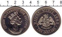 Изображение Монеты Северная Америка Доминиканская республика 10 долларов 1985 Медно-никель UNC