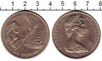 Изображение Монеты Австралия и Океания Новая Зеландия 1 доллар 1969 Медно-никель UNC-