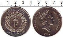 Изображение Монеты Новая Зеландия 1 доллар 1986 Медно-никель UNC-