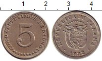 Изображение Монеты Панама 5 сентесим 1932 Медно-никель XF