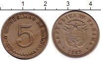 Изображение Монеты Северная Америка Панама 5 сентесим 1929 Медно-никель XF