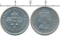 Изображение Монеты Маврикий 1/4 рупии 1978 Медно-никель UNC- Елизавета II
