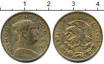 Изображение Монеты Мексика 5 сентаво 1968 Латунь XF