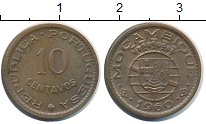 Изображение Монеты Мозамбик 10 сентаво 1960 Бронза XF Колония Португалии.