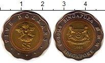Изображение Мелочь Азия Сингапур 5 долларов 1995 Биметалл UNC-