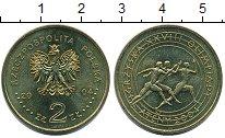 Изображение Мелочь Европа Польша 2 злотых 2004 Латунь UNC-