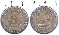 Изображение Мелочь Португалия 100 эскудо 1998 Биметалл XF