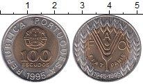 Изображение Монеты Португалия 100 эскудо 1995 Биметалл XF
