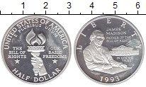 Изображение Монеты Северная Америка США 1/2 доллара 1993 Серебро UNC-