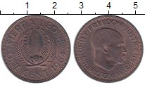 Изображение Монеты Сьерра-Леоне 1 цент 1964 Медь XF
