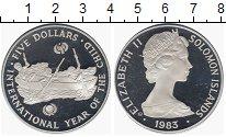 Изображение Монеты Соломоновы острова 5 долларов 1983 Серебро Proof-