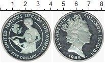 Изображение Монеты Австралия и Океания Соломоновы острова 5 долларов 1985 Серебро Proof-