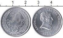 Изображение Монеты Уругвай 50 сентесим 1965 Алюминий UNC-