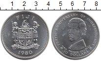 Изображение Монеты Фиджи 10 долларов 1980 Серебро UNC- Принц Чарльз.