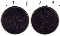 Изображение Монеты Швеция 2 эре 1949 Медно-никель XF