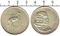 Изображение Монеты ЮАР 1 ранд 1966 Серебро XF