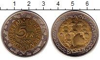 Изображение Монеты Швейцария 5 франков 2000 Биметалл UNC- Сырный  фестиваль  Ф