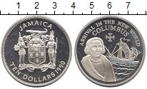 Изображение Монеты Северная Америка Ямайка 10 долларов 1990 Серебро Proof-