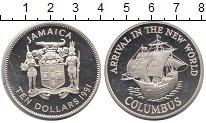Изображение Монеты Ямайка 10 долларов 1991 Серебро Proof-