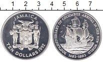 Изображение Монеты Ямайка 10 долларов 1992 Серебро Proof-