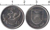 Изображение Монеты Кирибати 5 центов 1979 Медно-никель UNC- Фауна. Геккон