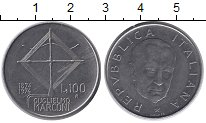 Изображение Монеты Италия 100 лир 1974 Сталь UNC-