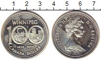 Изображение Монеты Северная Америка Канада 1 доллар 1974 Серебро UNC-