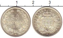 Изображение Монеты Европа Сан-Марино 50 сентесим 1898 Серебро UNC-