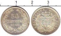 Изображение Монеты Сан-Марино 50 сентесим 1898 Серебро UNC-