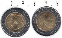 Изображение Монеты Европа Ватикан 500 лир 1988 Биметалл UNC-