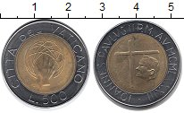 Изображение Монеты Европа Ватикан 500 лир 1983 Биметалл UNC-
