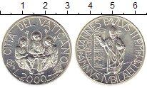 Изображение Монеты Ватикан 2000 лир 2000 Серебро UNC-