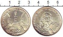 Изображение Монеты Европа Сан-Марино 1000 лир 1980 Серебро UNC-