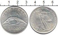 Изображение Монеты Европа Сан-Марино 1000 лир 1988 Серебро UNC