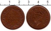 Изображение Монеты Индия 1/4 анны 1939 Бронза XF Георг VI