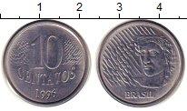 Изображение Дешевые монеты Бразилия 10 сентаво 1996 Железо XF