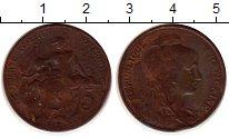Изображение Монеты Европа Франция 5 сентим 1912 Бронза XF-