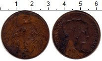 Изображение Монеты Франция 10 сентим 1901 Бронза VF KM#843