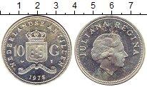 Изображение Монеты Нидерланды Антильские острова 10 гульденов 1978 Серебро UNC-
